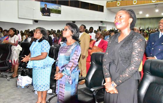 Cérémonie d'ouverture Pasteur Patricia PIEBI du Gabon, Prophétesse Patricia YOKA de la République du Congo et Prophétesse Sissi BOGOLI de la RDC